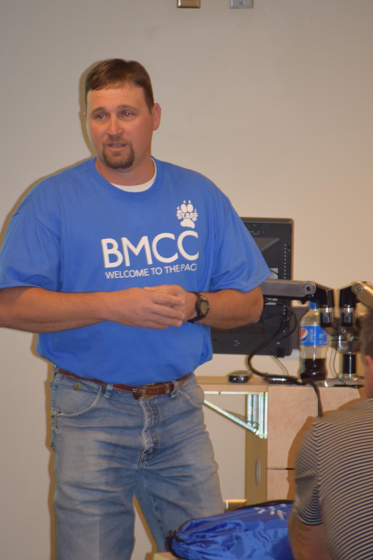Nick Nelson, BMCC Ag instructor, leading one of the classroom experience classes.
