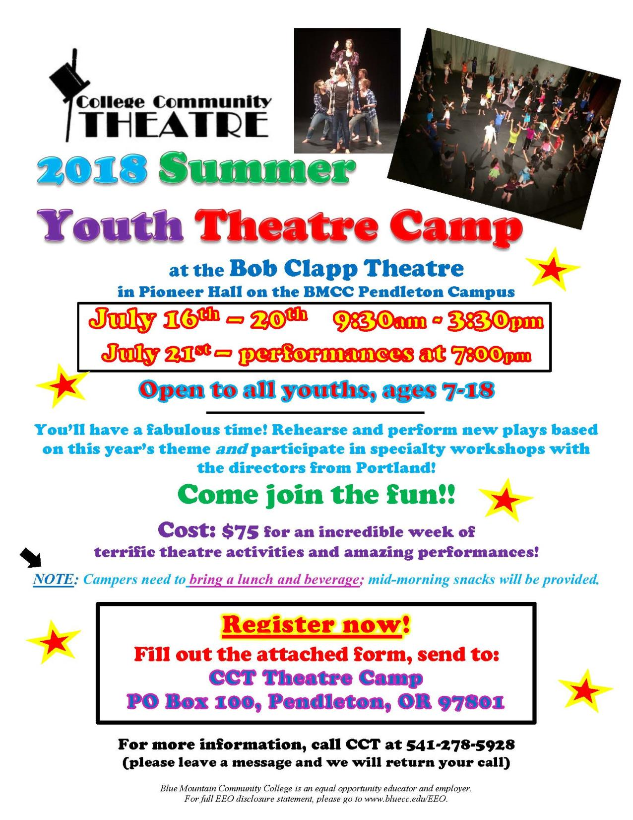 Theatre Camp Flyer 2018