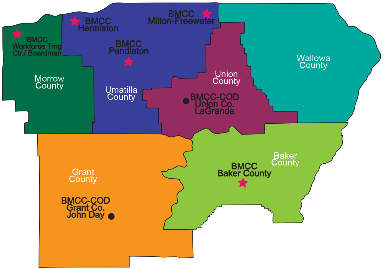 Locations Blue Mountain Community College