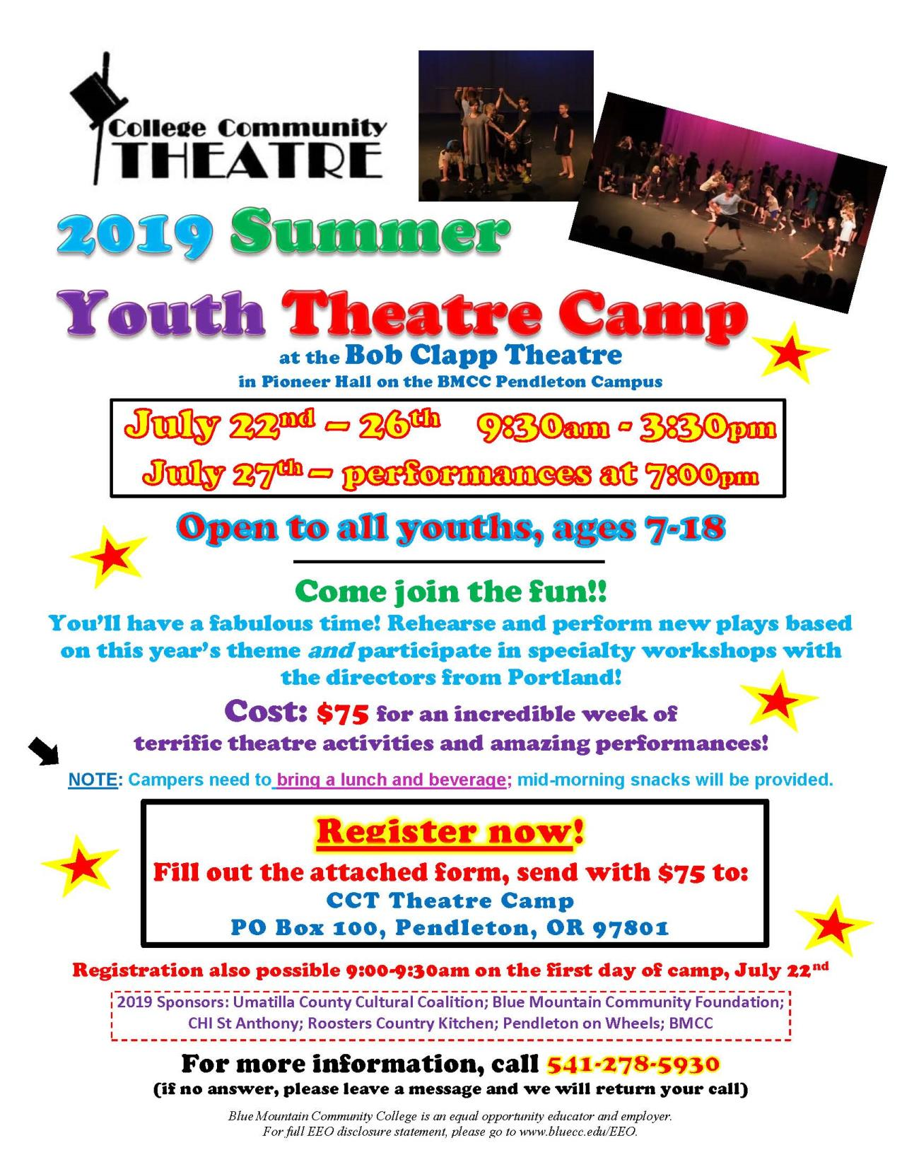 Theatre Camp Flyer 2019